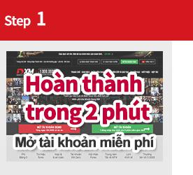 Bước 1 mở tài khoản miễn phí